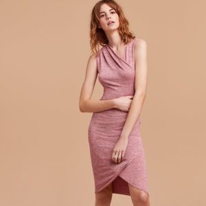 Wilfred PURPLE Izadora Wrap Midi Dress Size Small